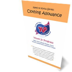 Cover for 'Clothing Allowance' Need to Know pamphlet